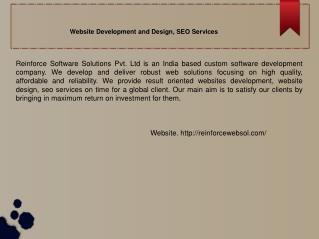 Website Development and Design, SEO Services