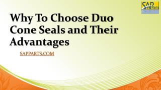 Why To Choose Duo Cone Seals and Their Advantages