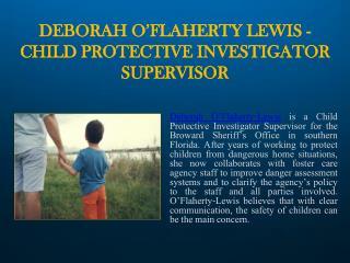 .    Deborah O'Flaherty-Lewis| Advocate for Children