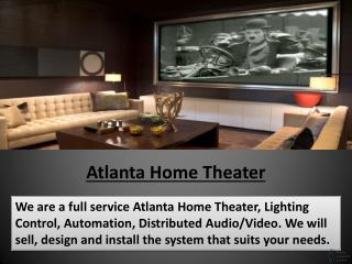 Atlanta Home Theater, Media Rooms, Home Automation