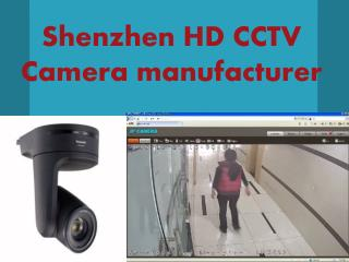 Shenzhen HD CCTV Camera manufacturer