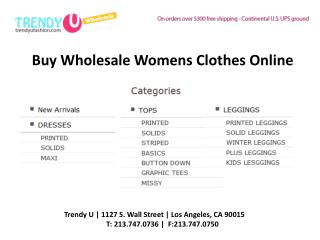 Wholesale Womens Fashion