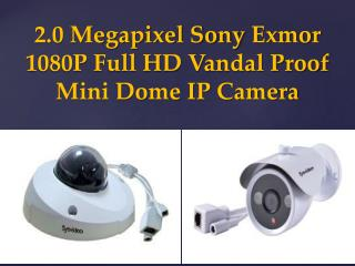 2.0 Megapixel Sony Exmor 1080P Full HD Vandal Proof Mini Dom