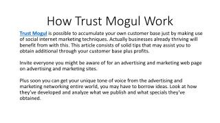 How Trust Mogul Work