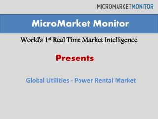 Utility Power Rental Market