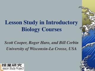 Lesson Study in Introductory Biology Courses