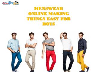 Buy menswear online and redefine style statement