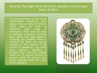 Silver Womens Jewellery