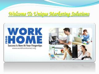 Earn Money at Home | Working at Home