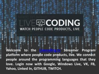 Real Time Coding Video Streaming