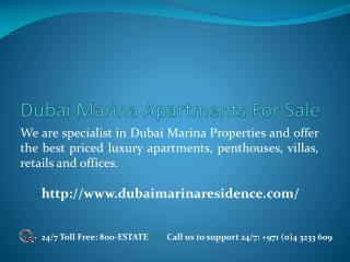 Dubai Marina Apartments for Sale | Dubaimarinaresidence