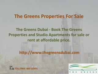 Properties for sale in The Greens Dubai