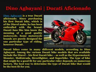 Dino Agbayani: Diligent