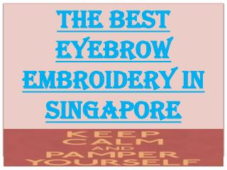 The Best Eyebrow Embroidery Spa in Singapore