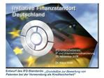 Entwurf des IFD-Standards:  Grunds tze zur Bewertung von Patenten bei der Verwendung als Kreditsicherheit
