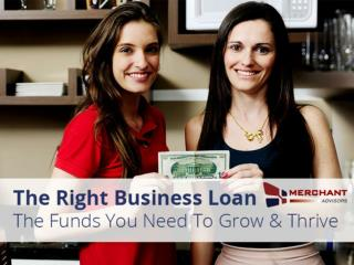 Business Loans from Merchant Advisors