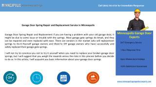 Garage Door Spring Repair and Replacement in Minneapolis