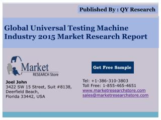 Global Universal Testing Machine Industry 2015 Market Analys