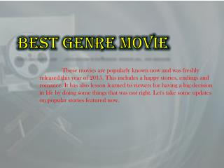 Best Genre Movies