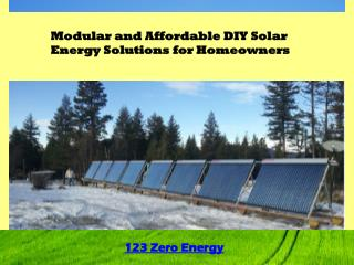 Modular and Affordable DIY Solar Energy Solutions for Homeow