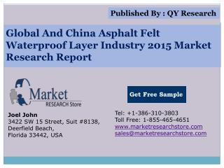 Global And China Asphalt Felt Waterproof Layer Industry 2015