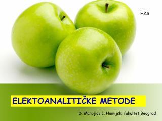 ELEKTROANALITICKE METODE