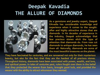 Deepak Kavadia The Allure of Diamonds