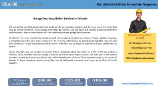 Garage Door Installation Services in Orlando