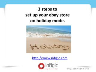 3 steps to set up your ebay store on holiday mode