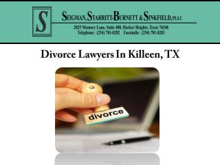 Divorce Lawyers In Killeen, TX