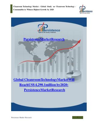 Global Cleanroom Technology Market to 2020