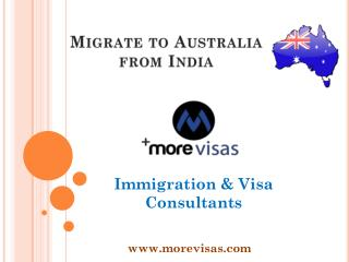 Migrate to Australia from India