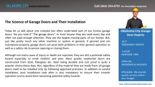 The Science of Garage Doors and Their Installation