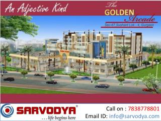 Cheap Retail Shops for Sale in Sector 67 Gurgaon Golf Course