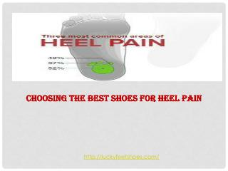 Choosing the Best Shoes for Heel Pain