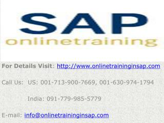 SAP Netweaver Online Training and Job Support