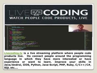 Watch People Write Code Live