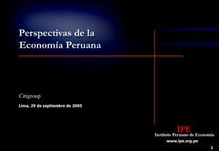 Perspectivas de la Econom a Peruana