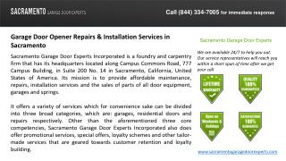 Garage Door Opener Repair & Installation Services Sacramento