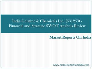 India Gelatine & Chemicals Ltd. (531253)