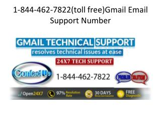 1-844-462-7822(toll free)Gmail Email Support Number