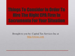 Things To Consider In Order To Hire The Right CPA Firm