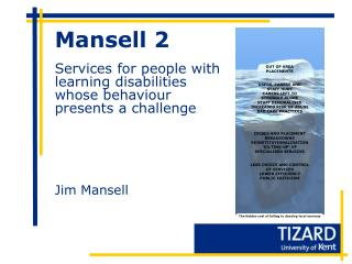 Mansell 2  Services for people with learning disabilities whose behaviour presents a challenge