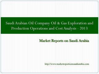 Saudi Arabian Oil Company Oil & Gas Exploration