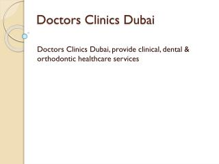 Doctors Clinics Dubai