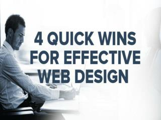 4 Quick Wins for Effective Web Design