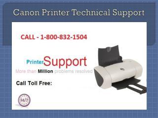 Canon Printer Technical Support 1-800-832-1504 | USA