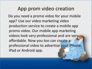 App prom video creation