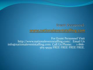 Event Personnel-www.nationaleventstaffing.com