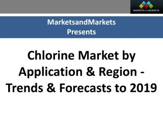Chlorine Market worth $33,362 Million by 2019
